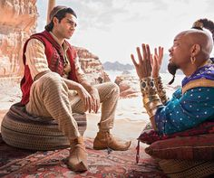 Aladdin, 2019 version, Starring Will Smith, Mena Massoud, Naomi Scott and directed by Guy Ritchie begins limited release today in Jordan. Genie Aladdin, Aladdin Film, Disney Aladdin, Aladdin Et Jasmine, Watch Aladdin, Aladdin Costume, The Smiths, Naomi Scott, Entertainment
