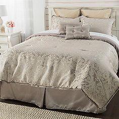 "Paula Deen Home ""Chantal"" Jacquard Damask Eight-Piece Comforter Set"