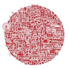 London Calling is nickprints highly original, highly graphic take on all that makes London one of the most exciting and visual cities in the world.  £45.00