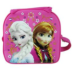 Disney Frozen Elsa and Anna Hot Pink Lunch Bag and Coloring Book @ niftywarehouse.com #NiftyWarehouse #Frozen #FrozenMovie #Animated #Movies #Kids