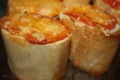 «Пеньки» из багета с куриной начинкой и сыром