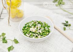 spring pea salad with lemon vinaigrette via  sunnyvegan.com