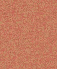 Distressed Metallic Gold Allover Paisley Leaf  - Floral Damask on Salmon Blush - Wallpaper By The Yard - GN2531