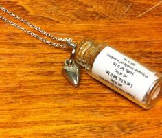 The Beatles  Let It Be  Song in a Bottle Necklace by TulaTinkers, $10.00