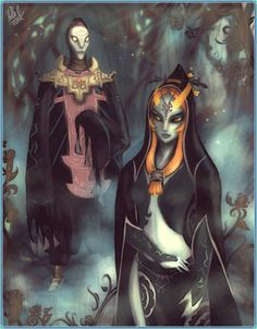 The Legend of Zelda: Twilight Princess Fan Art: Sorry, contains spoilers and rants but what can I do. It's Zant and Midna, my new favorite freaky. Midna and Zant The Legend Of Zelda, Zelda Twilight Princess, Princess Games, Video Game Characters, Fictional Characters, Video Game Art, Video Games, Hyrule Warriors, Lord