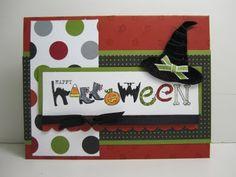 fun idea, halloween cards, stampin, happy halloween