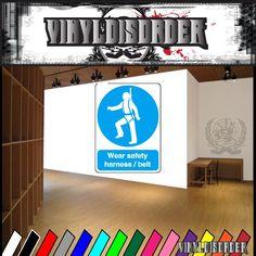 Safety Sign Wall Decal - Vinyl Sticker - Car Sticker - Die Cut Sticker - CD200