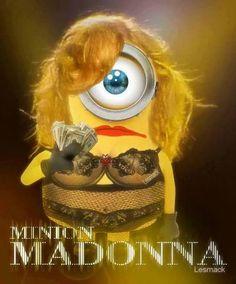 Minion Madonna. Pop Art, Illustration.