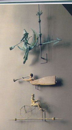 Antique weathervanes.