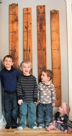 So very clever! Rustic Barn Wood Growth Ruler