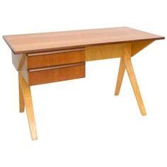 Secretary Bent Over Desk