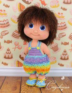 Crochet pattern - Alyonushka (Amigurumi Doll Pattern) Amigurumi Crochet doll Alyonushka / PDF file by Anna Crochet Doll Pattern, Crochet Dolls, Crochet Patterns, Amigurumi Patterns, Crochet Clothes, Easy Knitting Projects, Crochet Projects, Cute Crochet, Crochet Baby