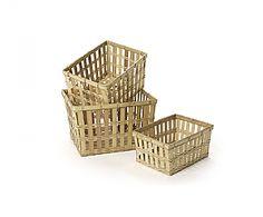 3 manden van bamboe