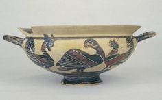 Greece. Corinth; ca 600-550 B.C. Vessels; Kylix; Clay; Paint