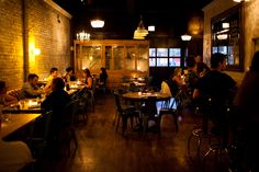 If you want to visit a Chicago restaurant with a cool vibe, fun-to-watch expert mixologist and great French food, go to Maude's Liquor Bar.