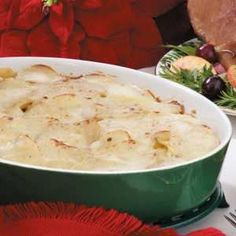 Christmas Dinner Home-Style Scalloped Potatoes -- just like my mother used to make.