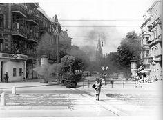1949 Blick von der Kaisereiche durch die Kirchstraße mit Trümmerbahn (Friedenau erzaehlt 1945-1963)