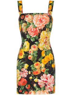 8b51629c3f2e0 Dolce   Gabbana Cady Floral Print Sleeveless Mini Dress