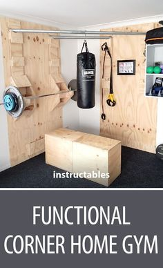 Functional Corner Home Gym  #woodworking