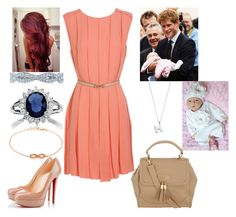 """""""Going Home"""" by royalprinceharry ❤ liked on Polyvore featuring Christian Louboutin, Tacori, Cada, Dorothy Perkins, Astley Clarke, top handle bags, belted dresses and nude heels"""