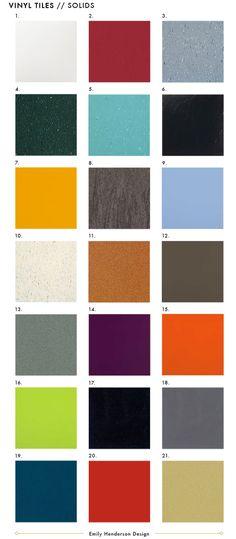Vinyl Floor Tiles Solid Colors