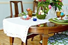 No Sew Table Runner for Easter