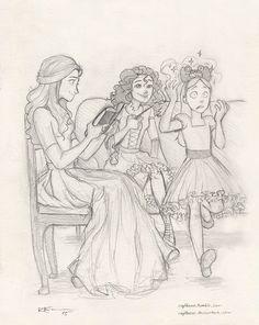 Sisters by CaptBexx.deviantart.com on @DeviantArt - Andromeda, Bellatrix and Narcissa