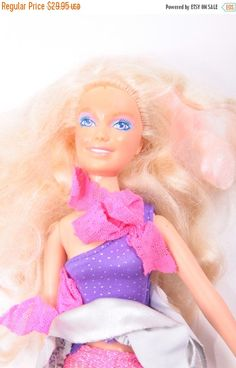 Jem Hasbro Doll Purple Violet Headband Hair Body Jem & The Holograms 160929 by ThePinkRoom