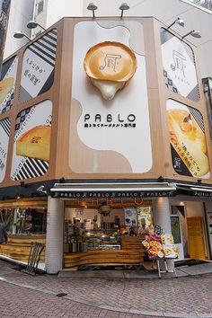 Japanese rare cheesecake at Pablo, Shibuya, Tokyo