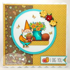 Good morning everyone I'm here to share my Handmade Bliss Design Team challenge card with you today - our theme this month is 'Sketch. Team Challenges, Lawn Fawn Stamps, Mft Stamps, Homemade Cards, Gnomes, Cardmaking, Bliss, Stampin Up, Paper Crafts