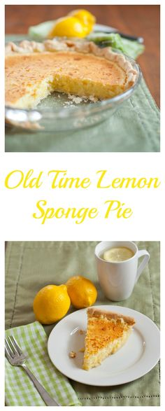 Try this antique recipe for Lemon Sponge Pie!  bloggingwithapples.com