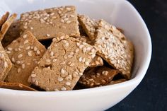 my favorite cracker recipe -- and they happen to be vegan and gluten-free!