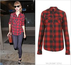 TopShop 'Tall Red and Black Check Shirt' - no longer available