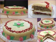 Mohn Marzipan Torte für Papa...