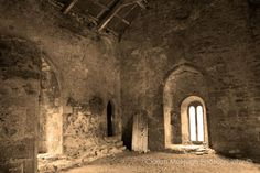 """This is said to be one of the most haunted castles in the world and has a long history of gruesome deaths. A priest was killed by his own brother during a mass in the chapel pictured above and it is now named the """"bloody chapel. Most Haunted, Haunted Places, Abandoned Places, Haunted Castles, Abandoned Churches, Haunted Houses, Places Around The World, Around The Worlds, Ghost Hauntings"""