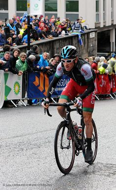 Winner of the road race - Geraint Thomas, riding for Wales. Pro Sky rider.