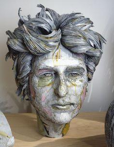 Scott Fife.  Portraits in Cardboard sculptures