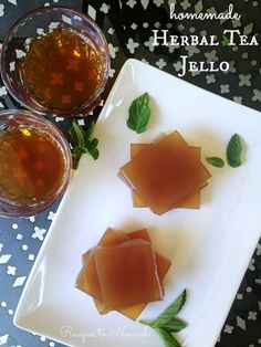 Homemade Herbal Tea Jello is a super fun snack + it's loaded with vitamins + mineral goodness from the herbal tea infusion. | Recipes to Nourish