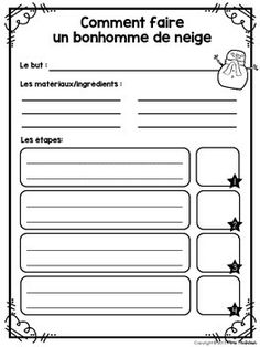 French Procedural Writing/Comment écrire la marche à suivre by Mme McIntosh French Teaching Resources, Teaching Writing, Writing Activities, Spanish Language Learning, Speech And Language, Teaching French Immersion, French Education, Kids Education, French Flashcards