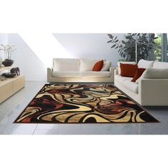 Home Dynamix 4473-469 Catalina Collection Area Rug, 6'6 inch by 9'2 inch Black