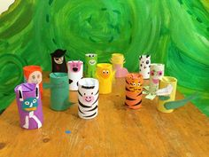 Recycling toilet rolls craft for kids. They loved this as they love animals!
