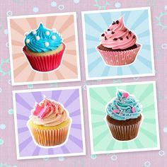 Kit Imãs Cupcakes - Imã Mania Cariri