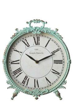 Time Gone By Desk Clock in Mint