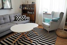 sofa pure agata meble, szara sofa, sofa w stylu skandynawskim, dywan stockholm