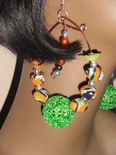 Green Lantern Womens Earrings by CherrysOriginals on Etsy, $20.00