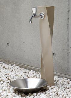 立水栓 レディー ガーデンパン+蛇口セット 外水栓