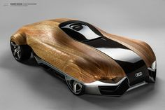 Audi Aerodynamics Wood by Tomas Rozum #design #maquette #wood
