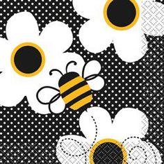 Bee Beverage Napkins 16 Pack