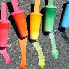 Homemade Sidewalk Chalk Play Recipes