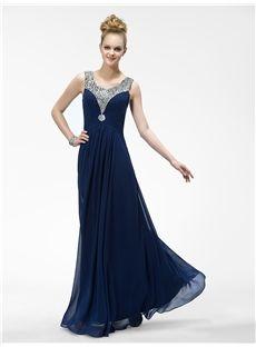Pretty Beadings Ruffles Floor-Length Evening Dress